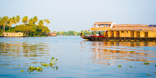 Houseboats in the Backwaters of Kerala, India Stock Photography