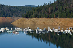 Houseboats, Bullards Bar Reservior Royalty Free Stock Image