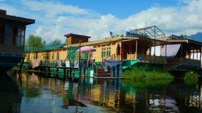 Houseboats cumujący w Dal lake-13 Zdjęcie Stock