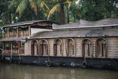 Houseboats Docked on Vembanad Lake Royalty Free Stock Images