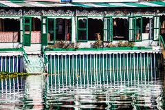 Houseboats, the floating luxury hotels in Dal Lake, Srinagar.India Stock Images
