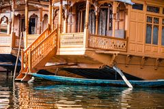 Houseboats, the floating luxury hotels in Dal Lake, Srinagar.India Royalty Free Stock Photos