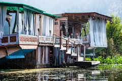 Houseboats, the floating luxury hotels in Dal Lake, Srinagar.India Stock Photography