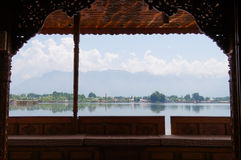 Houseboats, the floating luxury hotels in Dal Lake, Srinagar Stock Image