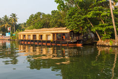 Houseboats in the Kerala Backwaters of South India Royalty Free Stock Images