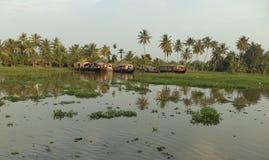 Houseboats, Kumarakom, Kerala, India Royalty Free Stock Photo
