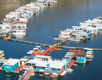 Houseboats, Lake Kaweah in California Stock Photos