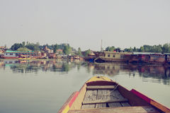 Houseboats on the lake in Srinaga Royalty Free Stock Photography