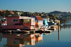Houseboats in a Marina Stock Photo