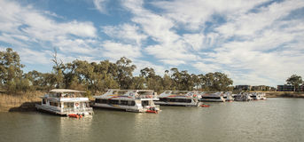 Houseboats, Murray River, Mildura, Australia Royalty Free Stock Images