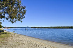 Houseboats on Noosa River, Noosa Sunshine Coast, Queensland, Australia Stock Images