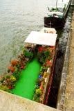 Houseboats in Paris Royalty Free Stock Photos