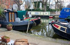 houseboats Pouca Veneza Londres Reino Unido fotos de stock