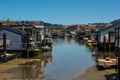 Houseboats in Sausalito, California Royalty Free Stock Images