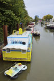 Houseboats on the Seine river Royalty Free Stock Photo