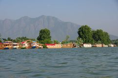 Houseboats in Srinagar in Kashmir, India Stock Photography