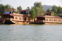 Houseboats in Srinagar in Kashmir, India Royalty Free Stock Images
