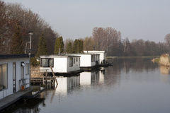 Houseboats Royalty Free Stock Photography