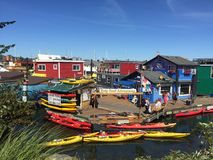 Houseboats. At Victoria BC's fishermen's wharf Royalty Free Stock Photos