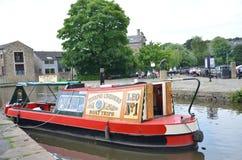 Houseboot i Skipton royaltyfria foton