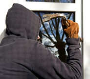 Housebraker window Stock Image