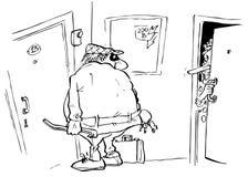 housebreaker Иллюстрация штока