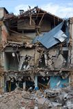Housebreaking, Demolierung von Buiding Lizenzfreie Stockbilder