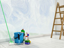 Housecleaning at home. spring concept Royalty Free Stock Image