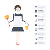 Housecleaning Infographic Royalty Free Stock Photos