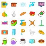 Housecraft icons set, cartoon style Stock Image