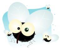 housefly шаржа Стоковое Изображение RF