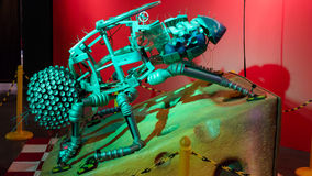 Housefly Robot. Exposed by Grand Cosmos – The Robot Zoo starting February 27 to April 27, 2014 at Baneasa Shopping City Bucharest stock photo