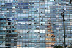 housefront蒙得维的亚 免版税库存照片