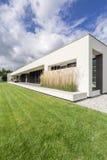 Housefront of modern villa Stock Images