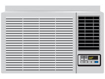 Household air conditioner. Appliance built in window air conditioner. Vector illustration stock illustration