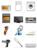 Household appliance icons Stock Photo