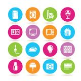 Household appliance icons Stock Photography