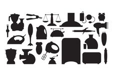 Household appliance Icons set Stock Photography
