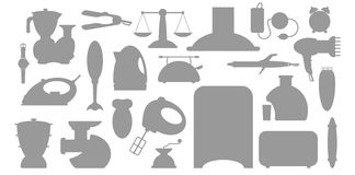 Household appliance Icons set Stock Photos