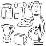 Household appliances. A set of sketches of Household appliances Royalty Free Stock Photo