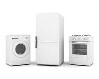 Household appliances royalty free stock photos