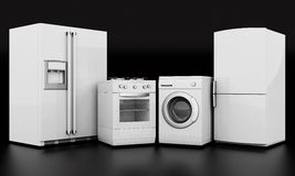 Household appliances royalty free illustration