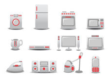 Household Appliances. Vector illustration of Household Appliances icons. You can decorate your website, application or presentation with it Stock Images