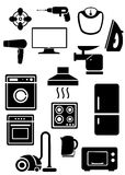 Household appliances black Royalty Free Stock Images