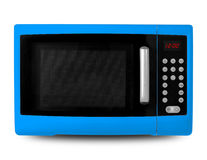 Household appliances - Blue Microwave Royalty Free Stock Photography