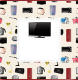 Household appliances card Stock Images