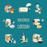 Household Appliances Cartoon Design Concept Royalty Free Stock Image