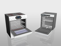 Household appliances, cooker, stove, dish washer. 3D illustration, household appliance, cooker, stove, dish washer Royalty Free Stock Image