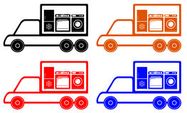 Household appliances delivery symbol Stock Photography