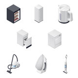 Household appliances detailed isometric icons set, part 3 Royalty Free Stock Images